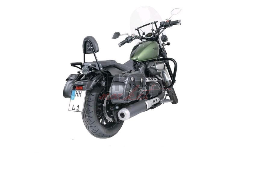 Dettagli su Borse laterali moto custom coppia Bisacce universali Harley Honda Yamaha Guzzi