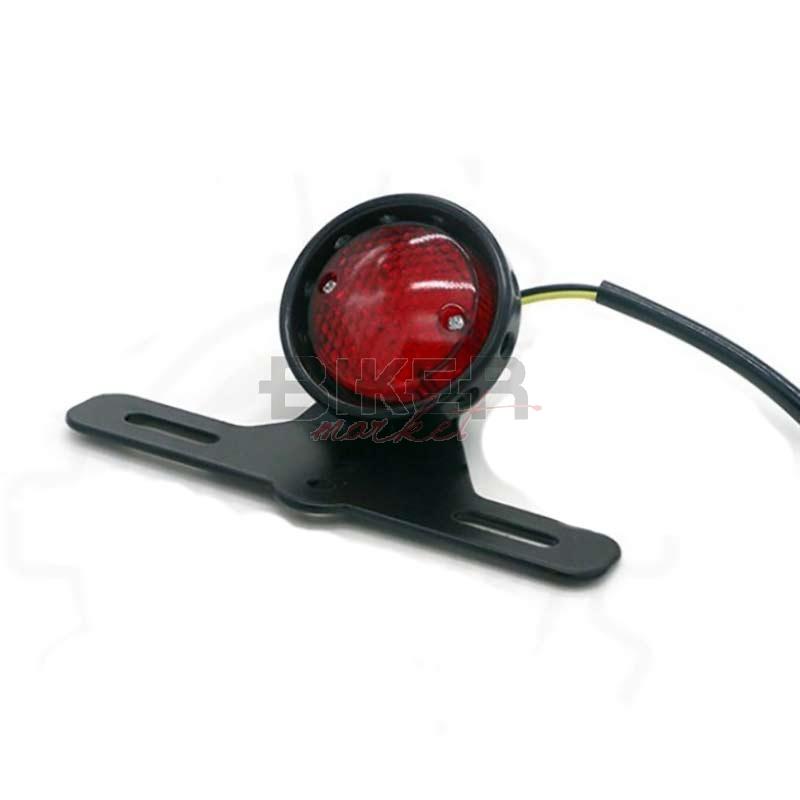 Fydun Fanale posteriore a LED modificato per fanale posteriore per moto adattato per Cafe Racer Argento